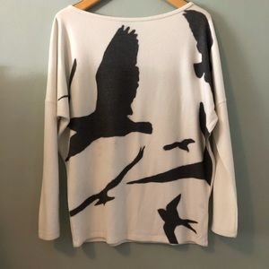 Go Couture printed dolman tunic shirt